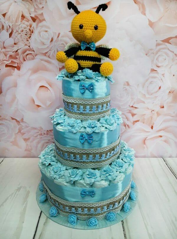 mähkmetort parim kingitus beebile mesilasega sinine