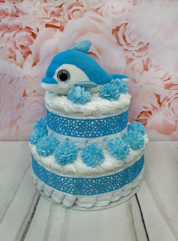 sinine mähkmetort delfiiniga 2